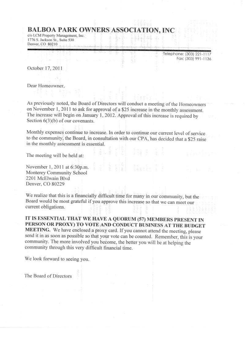 sample letter to homeowners association requesting for full one increase letter sample please see this letter that the association